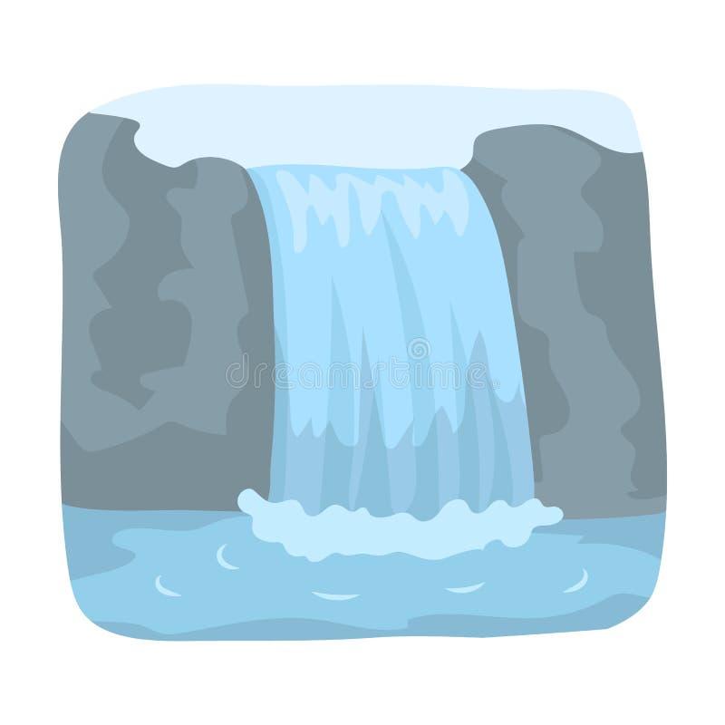 Cascade canadienne Icône simple de Canada en Web d'illustration d'actions de symbole de vecteur de style de bande dessinée illustration stock