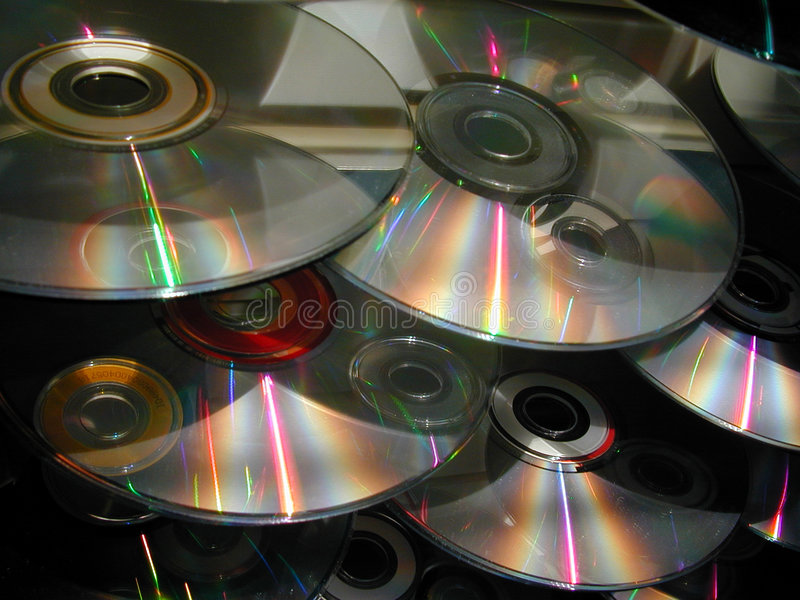 Download Cascade Of CDs Royalty Free Stock Photography - Image: 59517