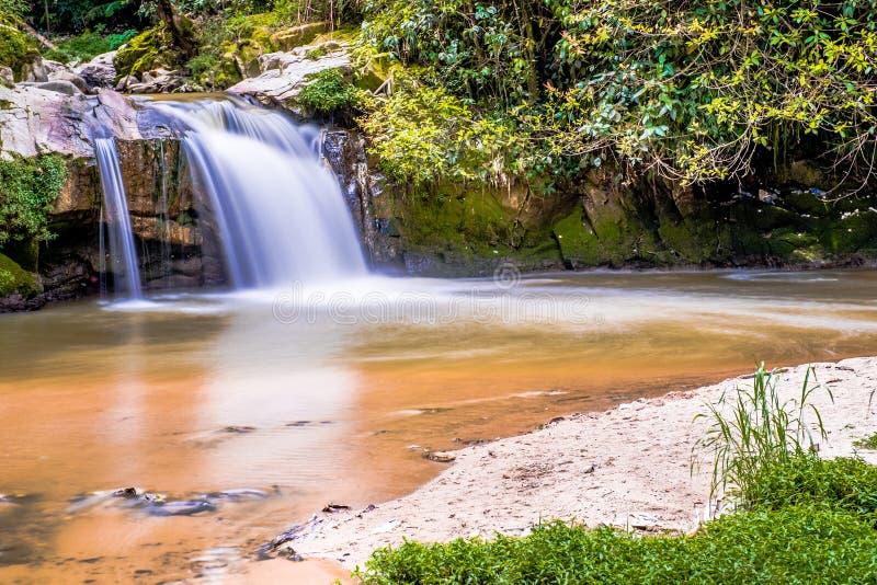 Cascade courante chez Cameron Highlands, Malaisie photos stock