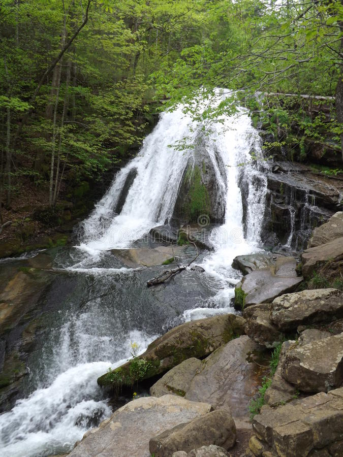 Cascade courue par hurlement, Eagle Rock, VA image stock