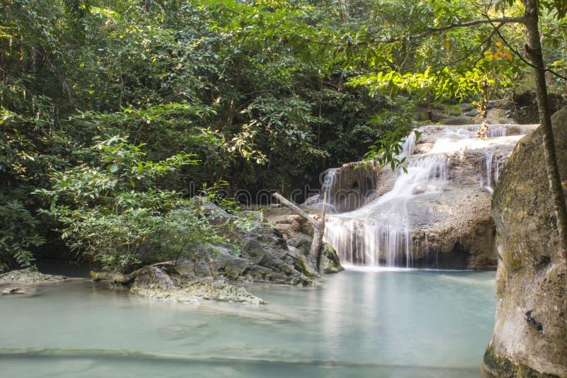 Cascade d'Erawan au parc national d'Erawan images stock