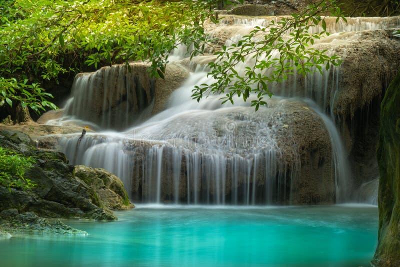 Cascade d'Erawan, parc national d'Erawan dans Kanchanaburi, Tha?lande image stock