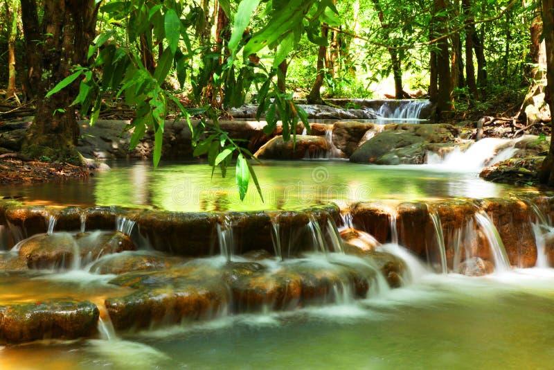 Cascade dans la forêt tropicale, Thaïlande image libre de droits
