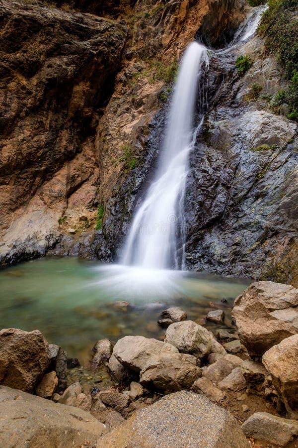 Cascade dans Ourika, Maroc photo stock