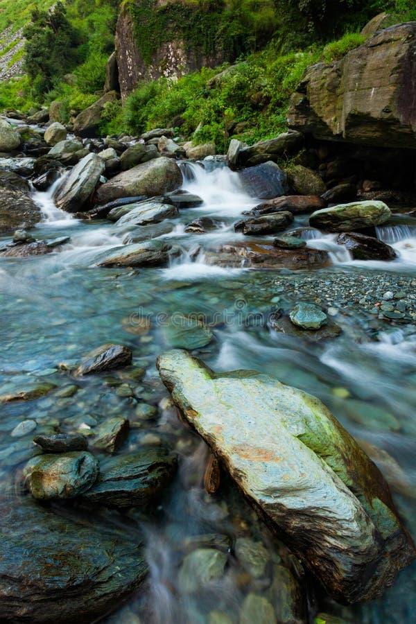 Cascade de Bhagsu Bhagsu, Himachal Pradesh, Inde photographie stock
