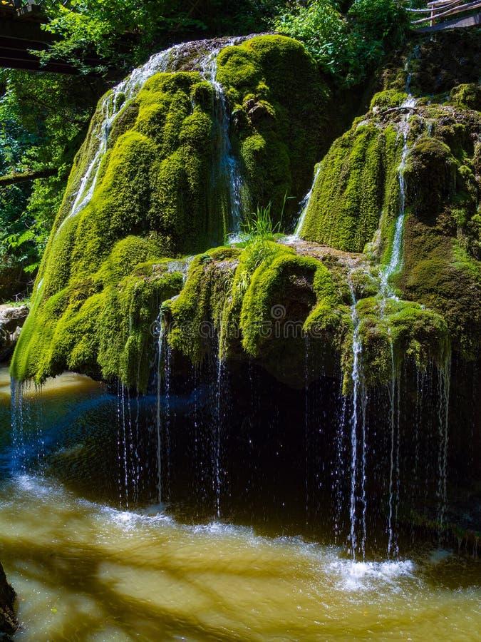 Cascade de Bigar en parc national de Cheile Nerei photos libres de droits
