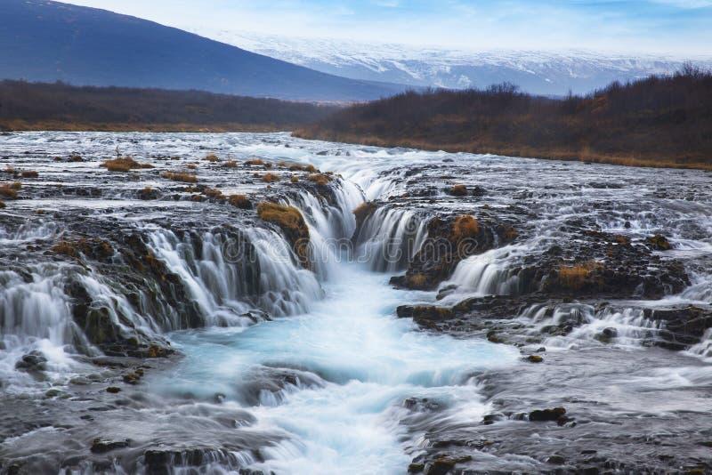 Cascade de Bruarfoss les attractions touristiques de les plus populaires dans Icel photos libres de droits