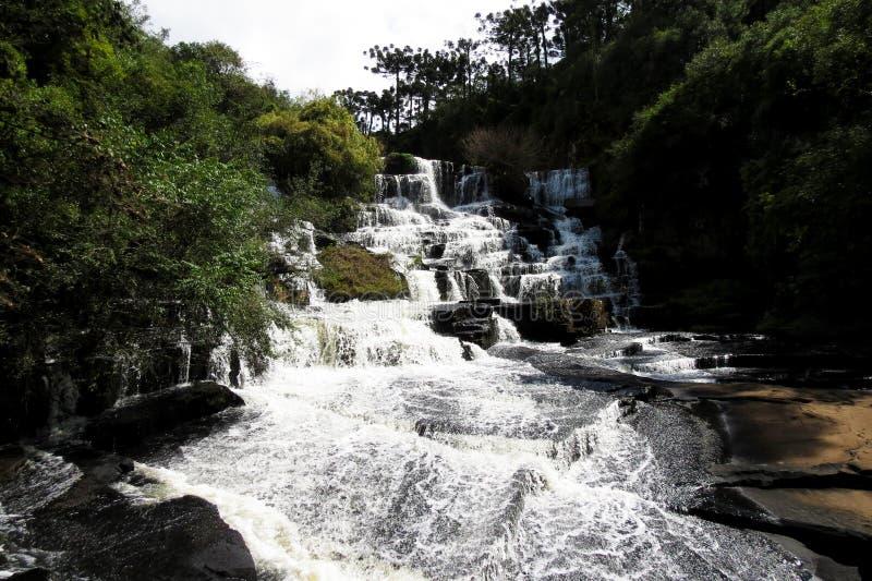 Cascade de Caracol - Canela et Gramado - le Brésil images libres de droits