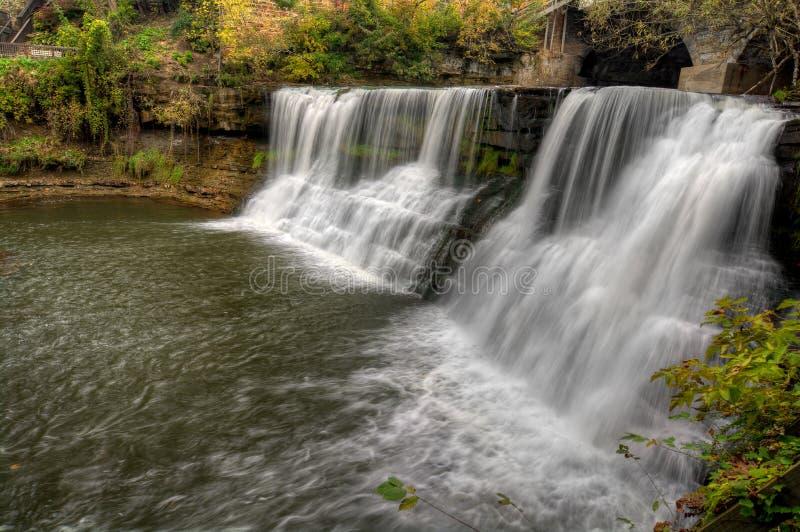 Cascade de Chagrin Falls Ohio images stock