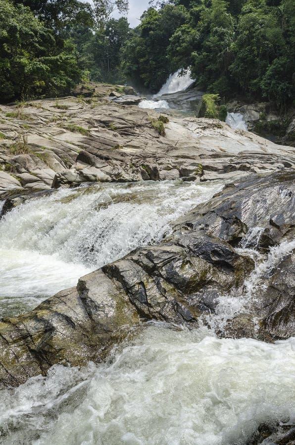 Cascade de Chamang, Bentong, Malaisie photos stock