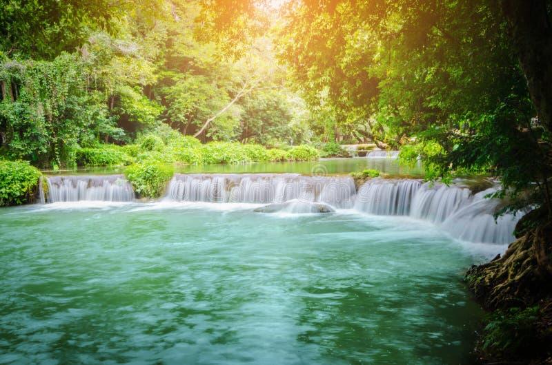 Cascade de Chet Sao Noi en parc national de Khao Yai photos stock