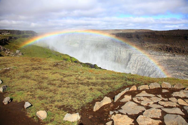 Cascade de Dettifoss photo libre de droits
