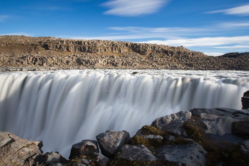 Cascade de Dettifoss Voyage en Islande photographie stock libre de droits