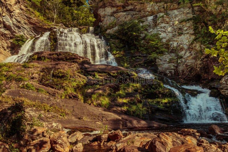 Cascade de cascade en Caroline du Nord images stock