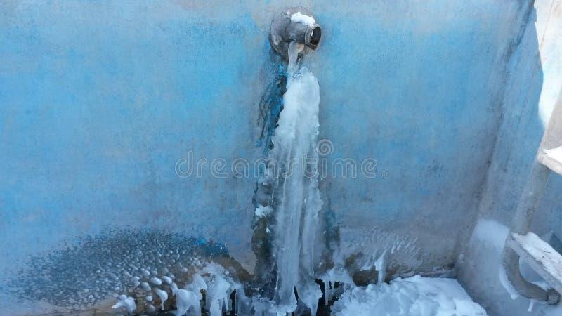 Cascade de glace image libre de droits