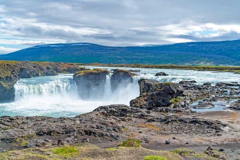 Cascade de Godafoss - Islande du nord image stock