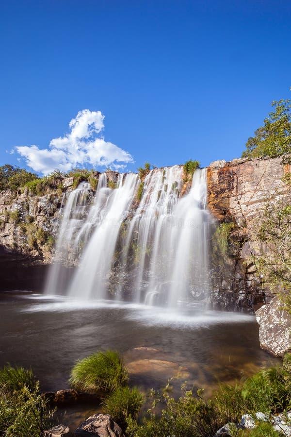 Cascade de Gruta - Serra da Canastra National Park - Delfinopolis photo libre de droits