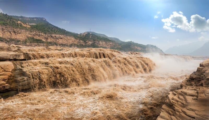 Cascade de Hukou de la rivière Yellow photographie stock libre de droits