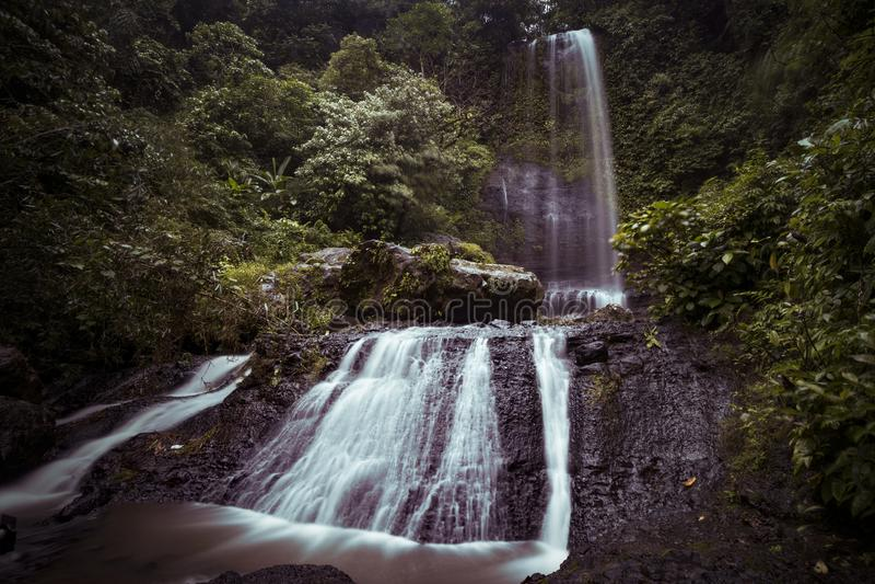 Cascade de Jurang Manten photographie stock libre de droits