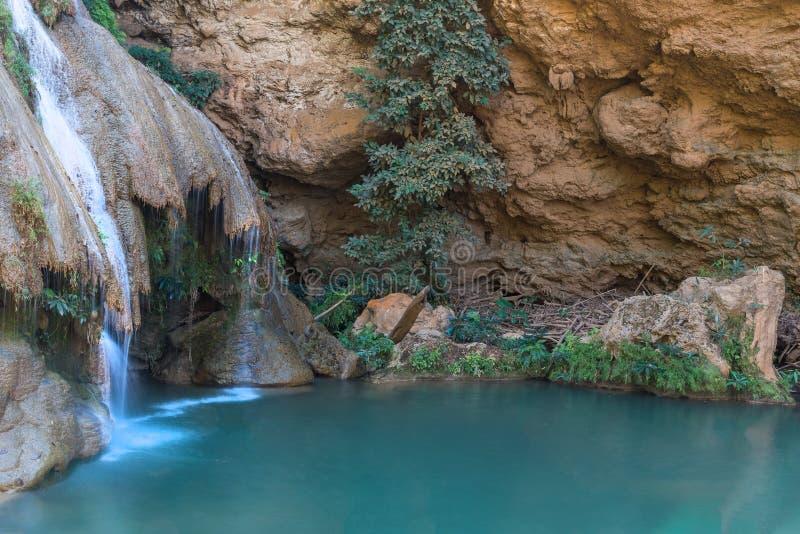Cascade de Kor Luang dans Lamphun Thaïlande images stock