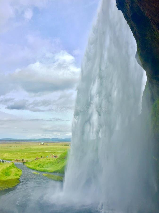 Cascade de l'Islande image libre de droits