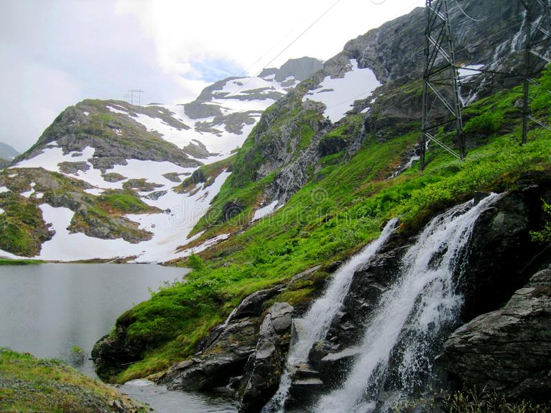 Cascade de la Norvège photos libres de droits