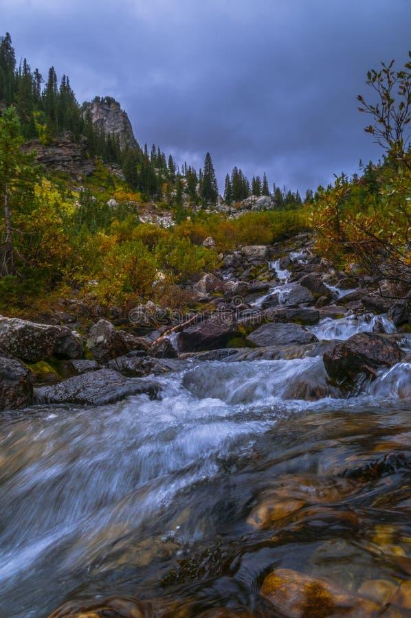 Cascade de montagne photos libres de droits