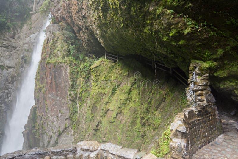 Cascade de Pailon Del Diablo, Equateur photo libre de droits