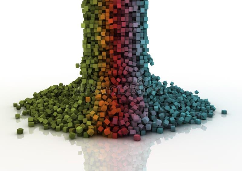 Cascade de Pixel illustration stock