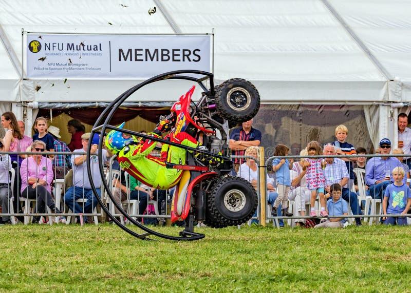 Cascade de roulement de vélo de quadruple photos libres de droits