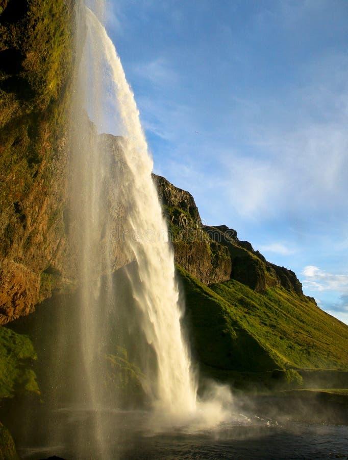Cascade de Seljalandsfoss en Islande photos stock