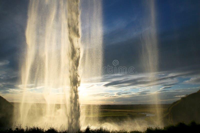 Cascade de Seljalandsfoss en Islande images stock