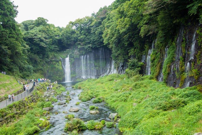 Cascade de Shiraito près de Mt Fuji en préfecture de Fujinomiya, Jap photographie stock libre de droits