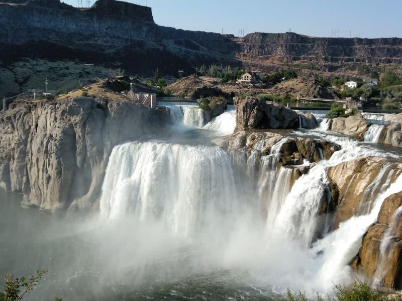 Cascade de Shoshone image libre de droits