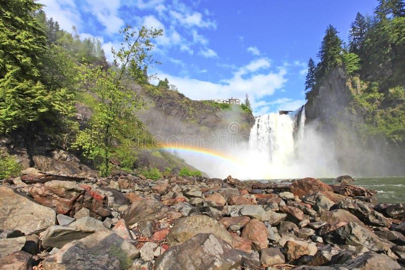 Cascade de Snoqualmie L'état de Washington image libre de droits