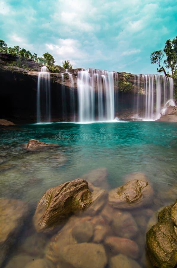 Cascade de suri de Karang, shillong, meghalaya image stock