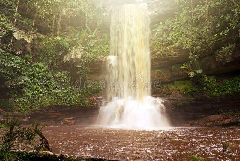 Cascade de Takob Akob en bassin de Maliau photo libre de droits