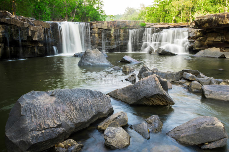 Cascade de Tatton, Chaiyaphum, Thaïlande image libre de droits