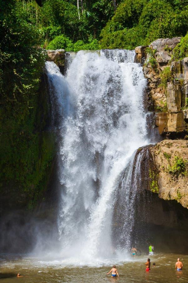 Cascade de Tegenungan - île Indonésie de Bali photographie stock