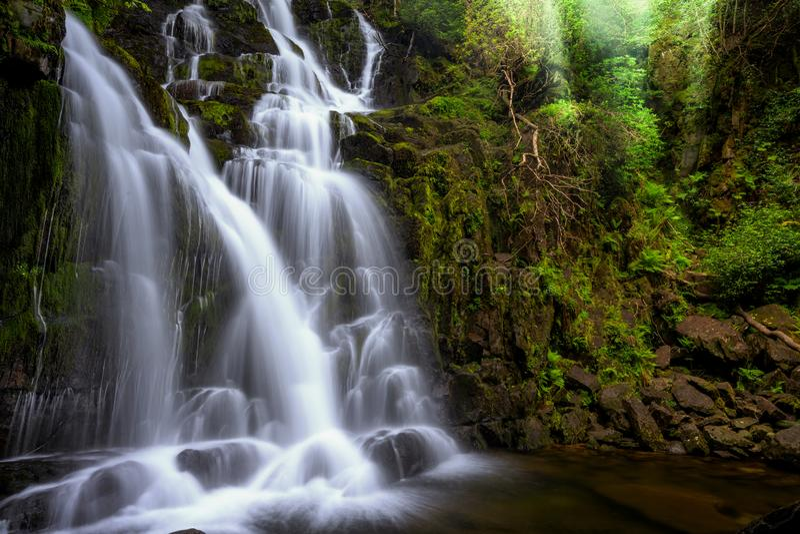 Cascade de Torc, Killarney le comt? de Park national Kerry, Irlande image libre de droits