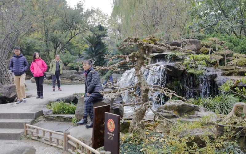 Cascade de touristes de visite de temple de wuhou, adobe RVB image stock