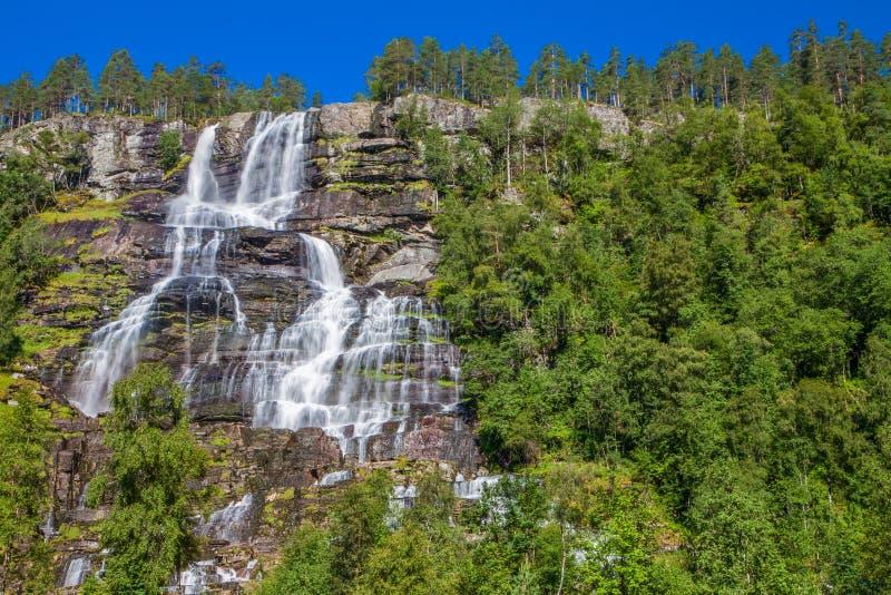 Cascade de Voss, Norvège, l'Europe images stock