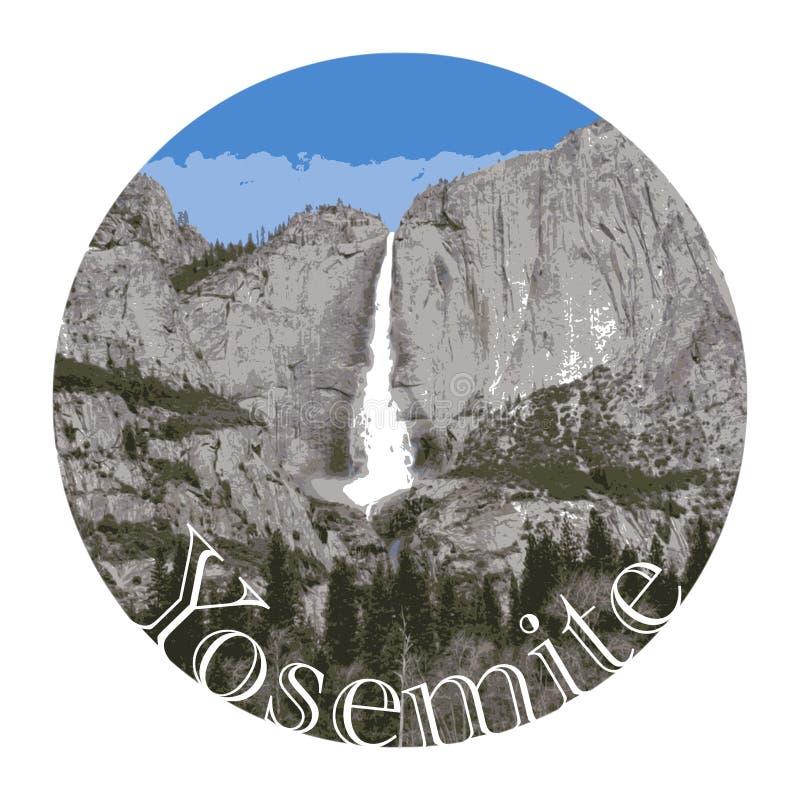 Cascade de Yosemite, parc national des USA illustration stock
