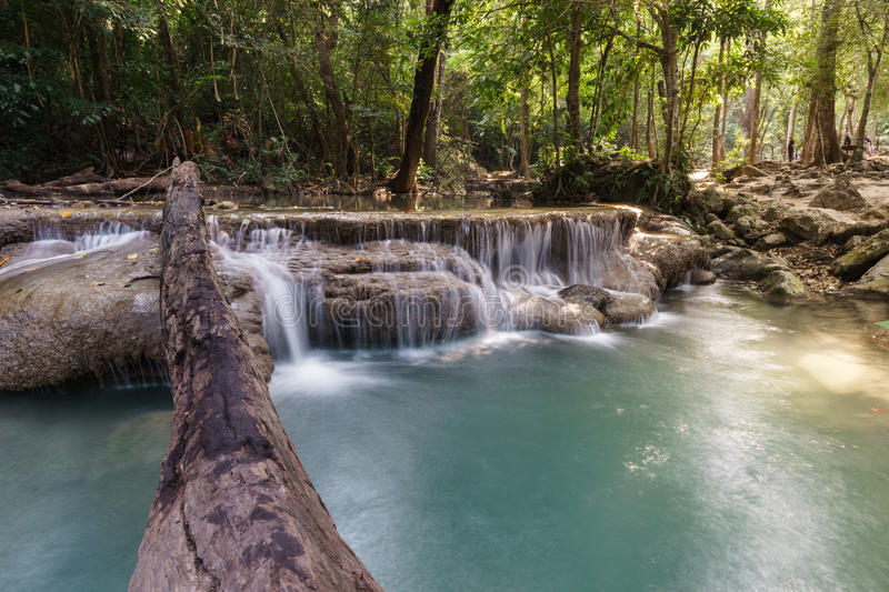 Download Cascade du ` s d'Erawan photo stock. Image du beau, waterfall - 87706776