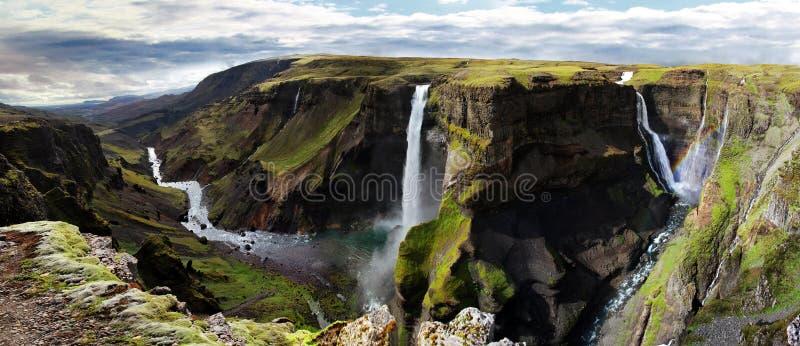 Cascade en Islande Haifoss photo libre de droits