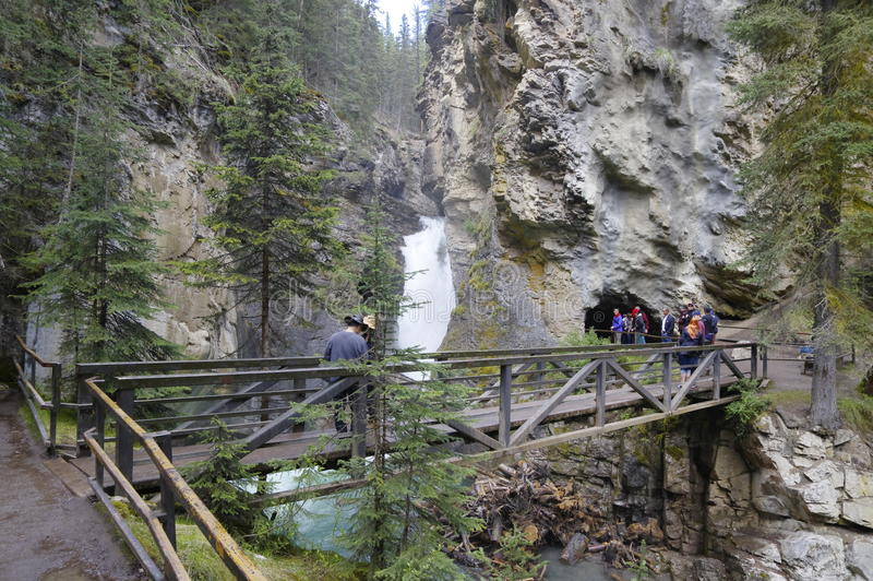 Cascade en Johnson Canyon images libres de droits
