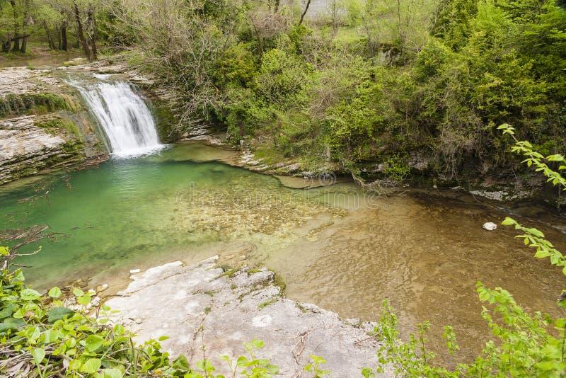 Cascade en l'Abkhazie photos stock