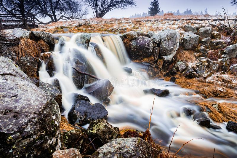 Cascade en nature photographie stock