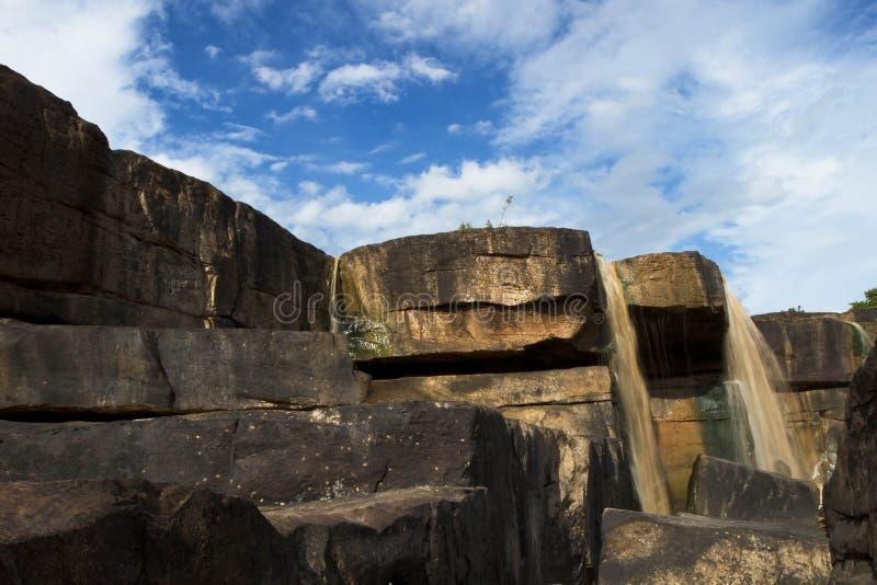 Cascade en pierre photo stock
