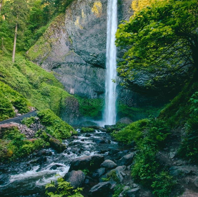 Cascade, Environment, Falls royalty free stock photography